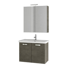acf 30 inch grey oak bathroom vanity set bathroom vanities and sink consoles