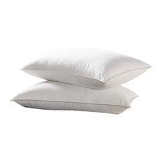 Luxurious  100% Siberian Goose Down Pillow 600Tc, 750FP,  Set Of 2, Standard