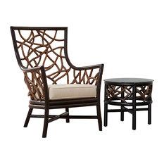 Panama Jack Trinidad 2-Piece Occasional Chair Set, Palm Life Aloe