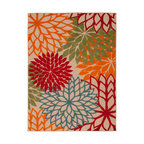 Tropical Bloom Rug, Green, 5