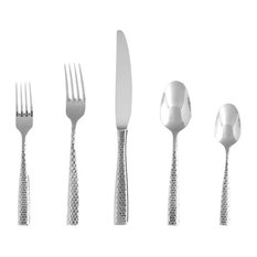 Lucca Faceted 18/10 Ss Flatware Set, Service For 4, 20-Pieces