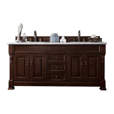 1st Avenue Wentworth Burnished Mahogany Double Vanity No Top 72 Bathroom