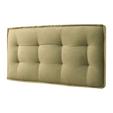 Sadi Tufted Headboard With Z-Bar EZ Mount Hardware Faded Yellow Twin