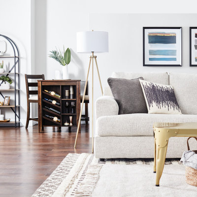 Inspiration for a transitional living room remodel in Tampa