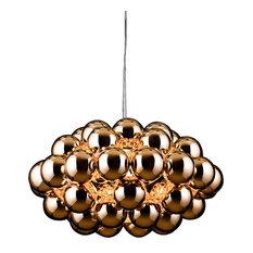 Innermost Beads Octa Pendant Light, Copper Color