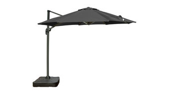 "Rust-Oleum NeverWet Cantilever Umbrella 9'10"" Diam With Tilt and Rotate, Gray"