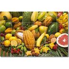 fruits vegetables photo shower tile mural 16 72x48
