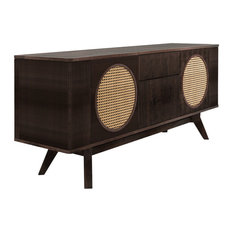 Harrison Walnut and Leather Sideboard