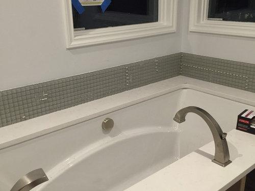 Add Height To Backsplash In Bathroom, How Tall Should A Bathroom Vanity Backsplash Be