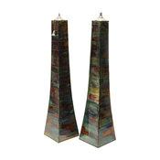 Large Pyramid Torchs, Set of 2, Jungle