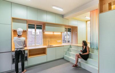 Houzz Tour: A 335-Sq-Ft Apartment Hides Storage and Surprises