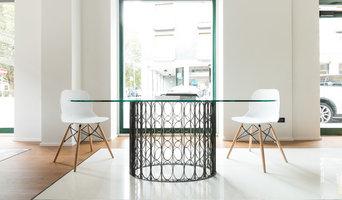 Tavolo MD. Progetto ArkEdile e realizzazione ferro&vetroLAB.