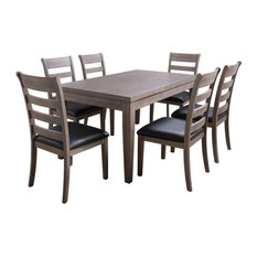 CorLiving New York Gray Wood Classic Dining Set - 7pc