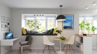 Уютная двухкомнатная квартира в скандинавском стиле