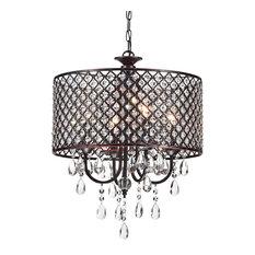 50 most popular drum chandeliers for 2018 houzz 1st avenue mariella 4 light crystal drum shade chandelier chandeliers aloadofball Gallery