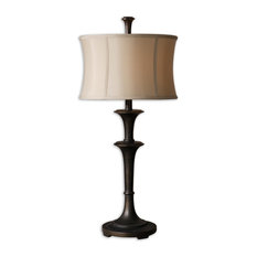 50 most popular oil rubbed bronze table lamps for 2018 houzz uttermost uttermost brazoria one light oil rubbed bronze table lamp table lamps aloadofball Image collections