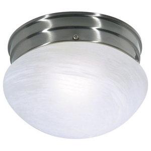 Nuvo Lighting 60//1825 Brushed Nickel Medium Flush Dome with Satin White Glass