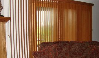 wood verticals in family room