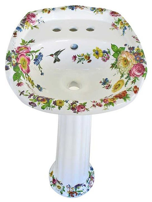 Hand Painted Pedestal Sinks