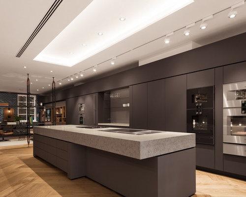 Gaggenau flagship store silestone blanco orion and - Silestone showroom ...