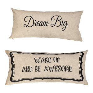 Be Awesome Dream Big Motivational Quotes Double Sided Pillow