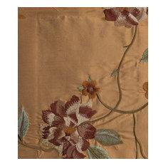 Natural Silk Symphony Fabric, Burnt Orange