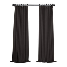 "Bellino Blackout Curtain Single Panel, Smoked Truffle, 50""x108"""