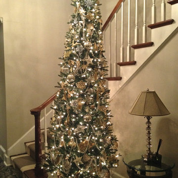 TRANSITIONAL STYLE HOME HOLIDAY DECOR
