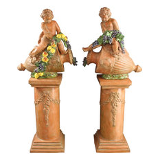 Consigned Pair Large Italian Statues Hand-Crafted