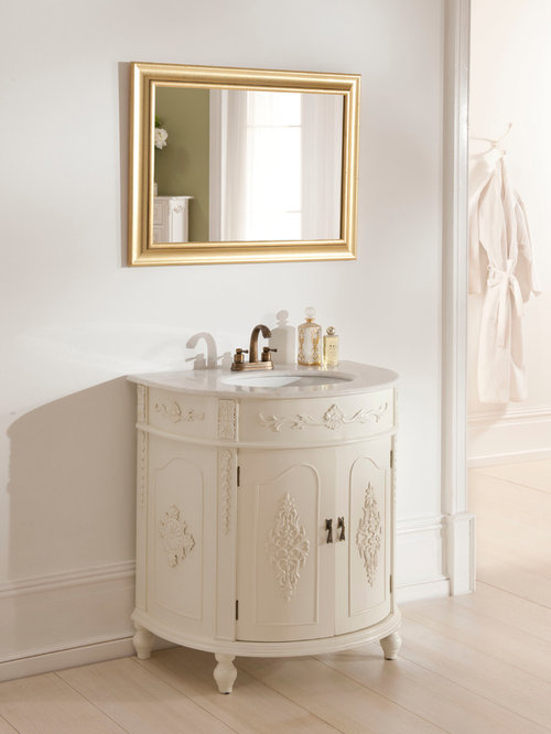 White Antique French Vanity Units - Bathroom Vanities And Sink Consoles