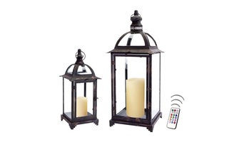 Commodore's Lantern Collection Set with Flameless Color Candles