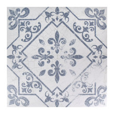 "17.63""x17.63"" Pacific Ceramic Floor and Wall Tile, Azul, Set of 7"