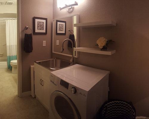 hauswirtschaftsraum mit edelstahl arbeitsplatte und. Black Bedroom Furniture Sets. Home Design Ideas