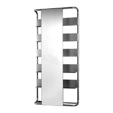 Aeri Large Rectangular Wall Mount Aluminum Frame With Six Shelves