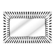 Solitaire Piano Keys Wall Mirror, 155x90 cm