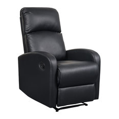 Artiva USA Modern Home Slim Design PU Leather Recliner Black