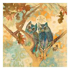 """Parish Owls"" Canvas Print by Evelia, 100x100 cm"