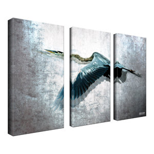 Ready2HangArt Bruce Bain 'Heron Flight' 3-piece Set Canvas Wall Art