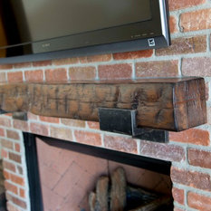 Mantle  Hand Hewn Pine Beam Fireplace Mantels Barn Mantel Houzz