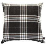 Yorkshire Fabric Shop - Louise Scatter Cushion, Cocoa, 45x45 Cm - The 45-by-45-centimetre cocoa Louise Scatter Cushion comes with a remarkably soft cover and a classic tartan design that can add a decorative spirit to any room. Place this piece on a bed or sofa for style and comfort in one reliable design. From deep within the UK, the family-run Yorkshire Fabric Shop produces upholstery fabrics and a wide range of cushions for homes across the world.