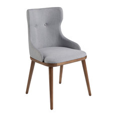 Alexandra Furniture - Solid Ash Dining Chair With Gray Upholstery - Dining Chairs