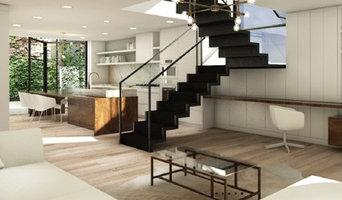 Zig Zag Folding Steel Minimalistic Staircase