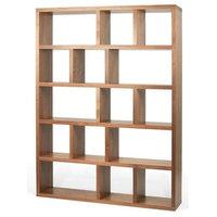 5-Levels Bookcase, Walnut