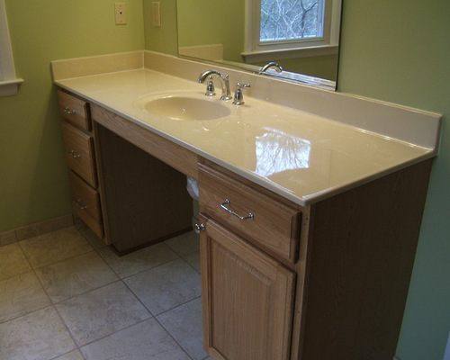 Wheelchair accessible vanity houzz for Wheelchair accessible sink