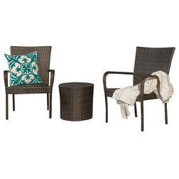 Inspirational Tropical Outdoor Lounge Sets by GDFStudio