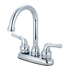 Olympia Faucets, Inc. - Two Handle Bar Faucet, Polished Chrome - Bar Faucets