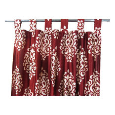 "Mogul Interior - Patterned Curtains, Set of 2, Tab Top, 48""x108"" - Curtains"