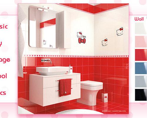hello kitty tile, Bathrooms