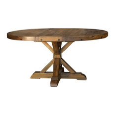 "A-America Anacortes 62"" Oval Pedestal Table, With 16"" Leaf"