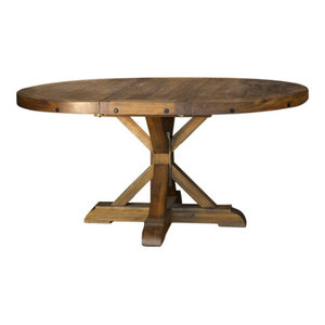 """A-America Anacortes 62"""" Oval Pedestal Table, With 16"""" Leaf"""